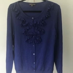 ADRIENNE VITTADINI BLUE SWEATER